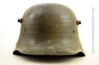 """""""Feldgrau"""" painted German steel helmet"""