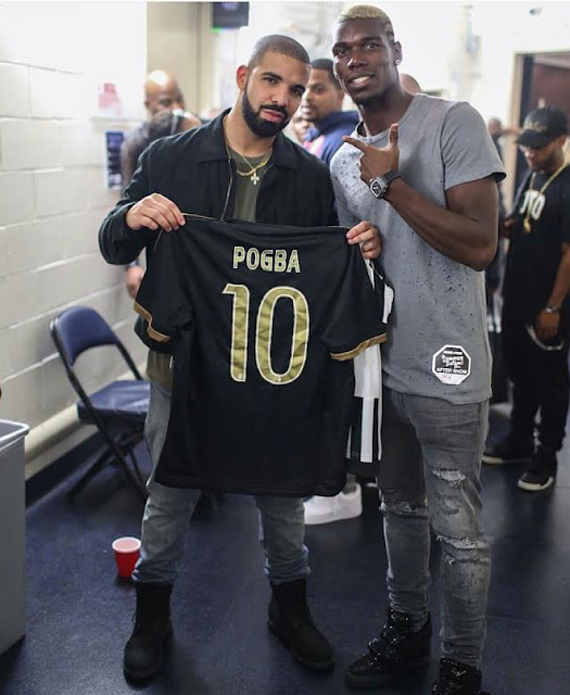 Paul Pogba and Drake