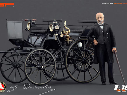 Scale Figures: Karl Benz and Gottlieb Daimler Figures