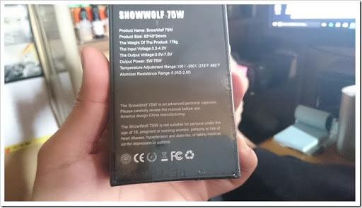 DSC 1359 thumb%25255B3%25255D - 【MOD】初めてのASMODUS SNOW WOLF Mini 75Wのレビュー!高級感あるステンレスボディとTC機能付きの小型MOD