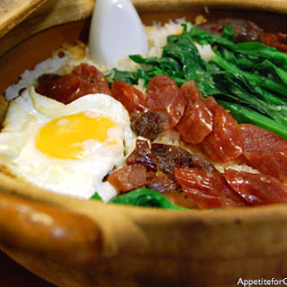 Clay Pot Rice with Cantonese Sausage