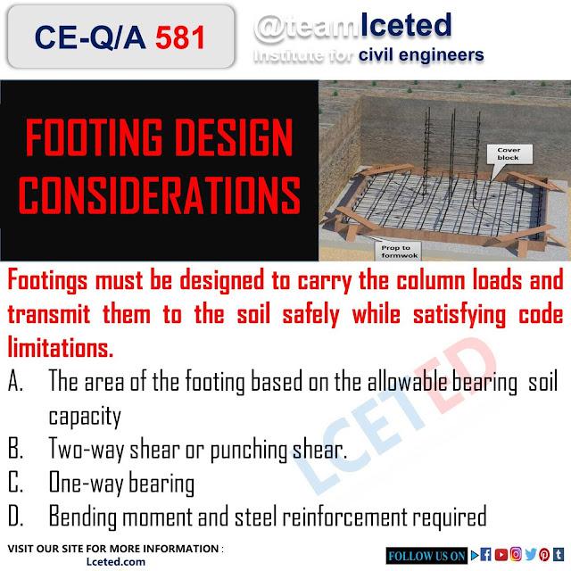 FOOTING DESIGN CONSIDERATIONS