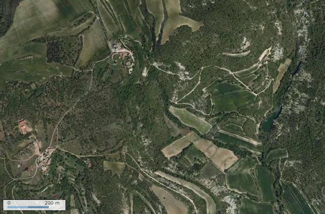 Photo satellite IGN (Géoportail) : les Hautes-Courennes