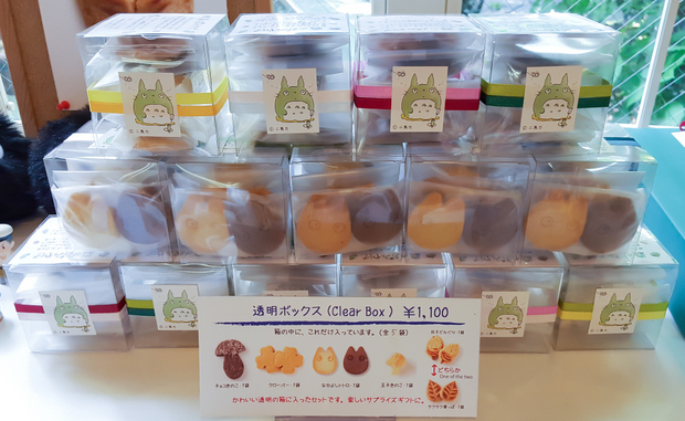 photo of boxes of Totoro cookies on display