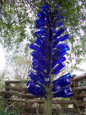 коледна елха от бутилки