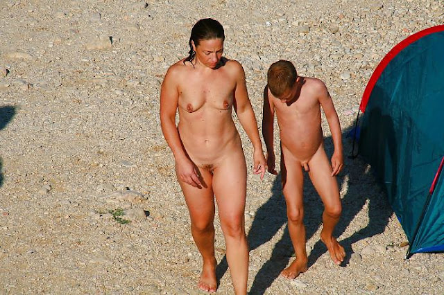 Nude beach sex cum on