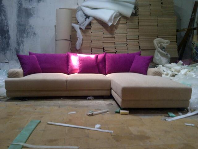 bikin sofa baru L shape bekasi