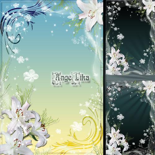 Праздничная цветочная рамка для фото - Дыхание весны