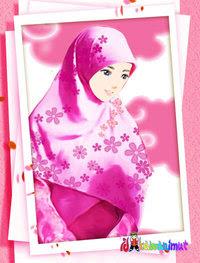 Foto+kartun+wanita+berjilbab