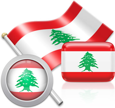 Lebanese flag icons pictures collection