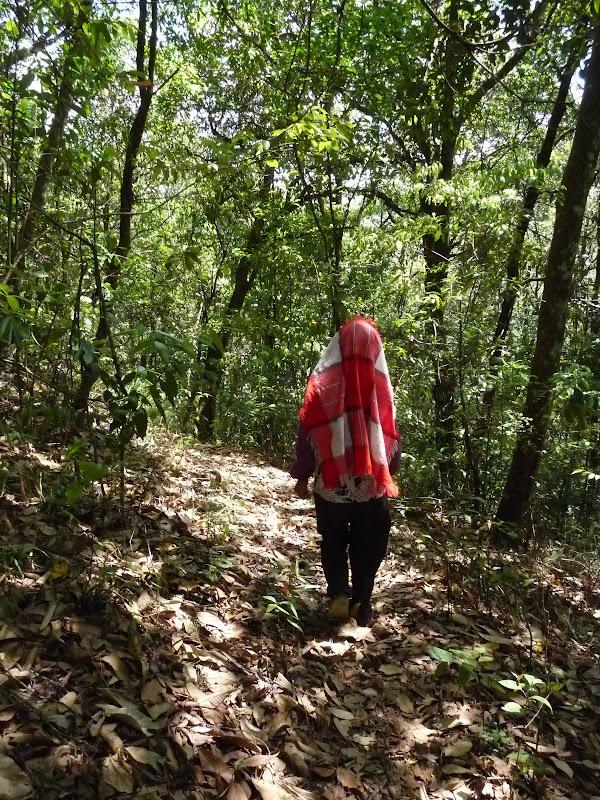 la seule et unique fois ou la guide a perdu le Nord. Cette dame nous a montré le chemin pendant 20 min en descente...et elle est remontée sans rien nous demander