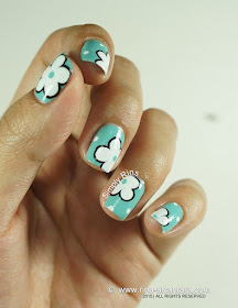 Flowers on the Side Nail Art by Simply Rins