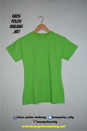 kaos polos malang hijau muda