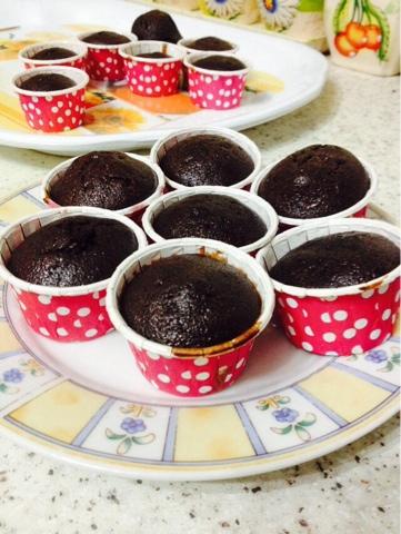gambar cup cake coklat