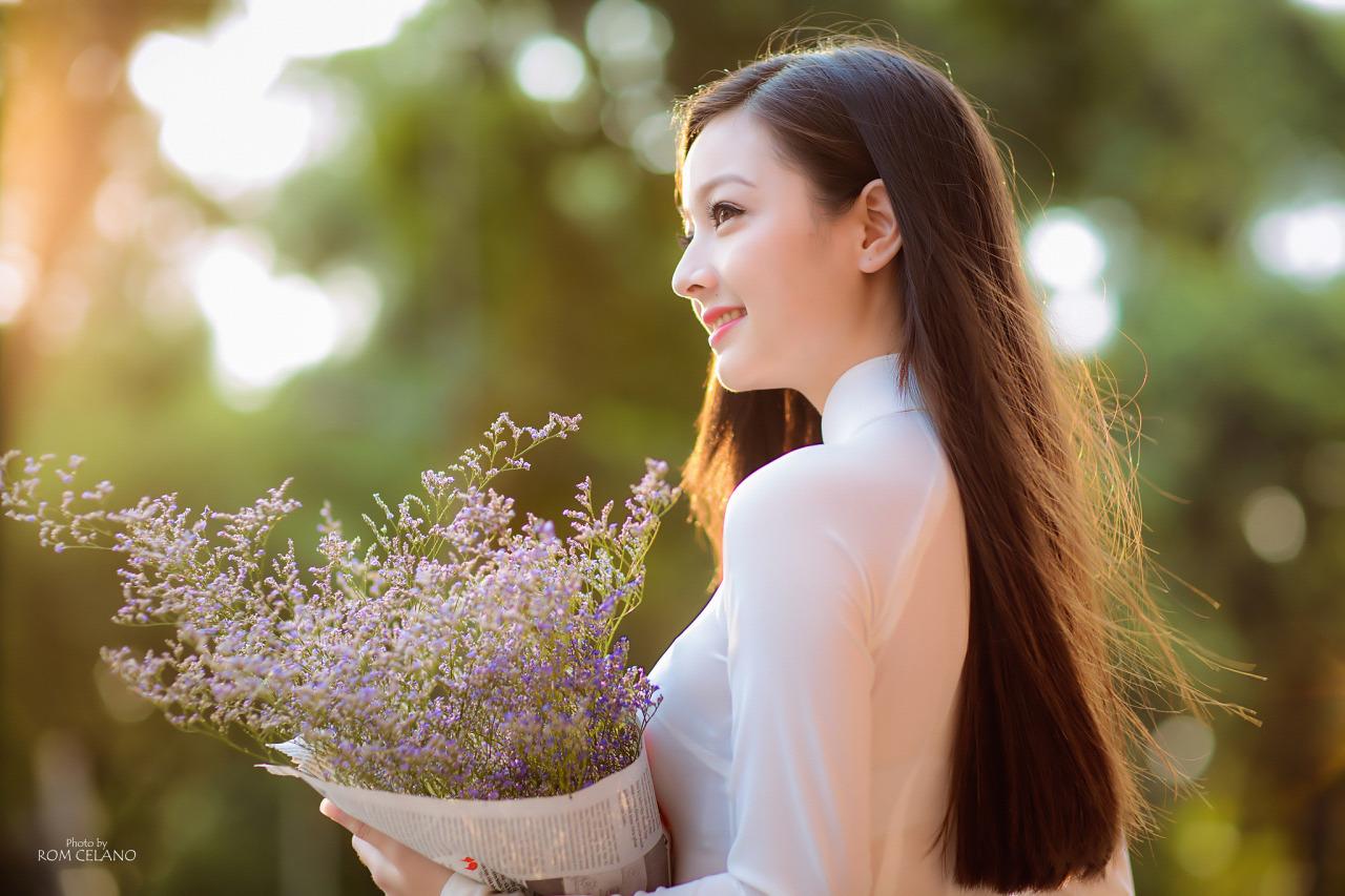 Áo dài trắng xinh không chịu nổi xkcn.info