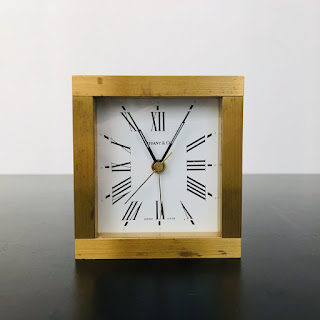 Tiffany & Co. Brass Alarm Clock
