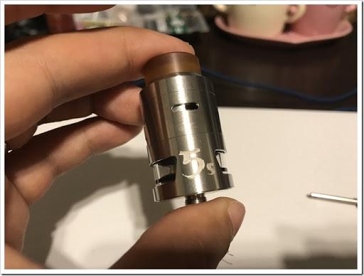 IMG 4416 thumb - 【爆煙小僧必見】IJOY RDTA 5S Tankレビュー!漏れ防止には頑張るしかないRDTAだけど、ボトムやサイドで味を変えれる万能RDTAでもありまする!スカスカドローで爆煙小僧となれ!