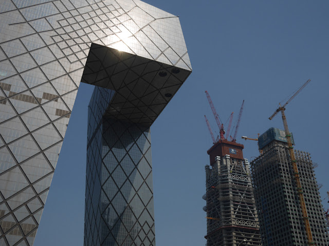 CCTV Headquarters and under-construction buildings