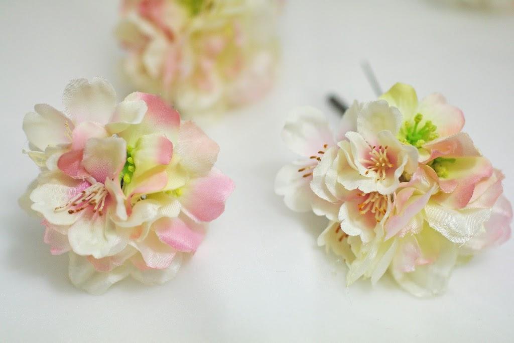 桜 髪飾り ヘッドドレス 卒業式 和装 ウェディング ヘアスタイル