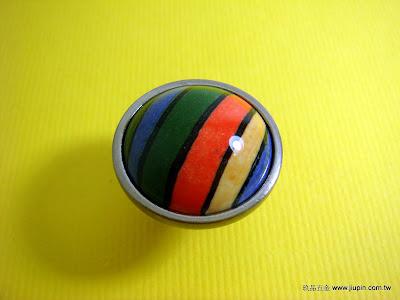 裝潢五金品名:ST004-陶瓷取手(彩虹)玖品五金