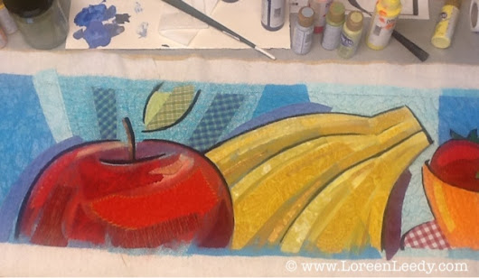 Fruit Frieze Art Quilt, Step-by-Step