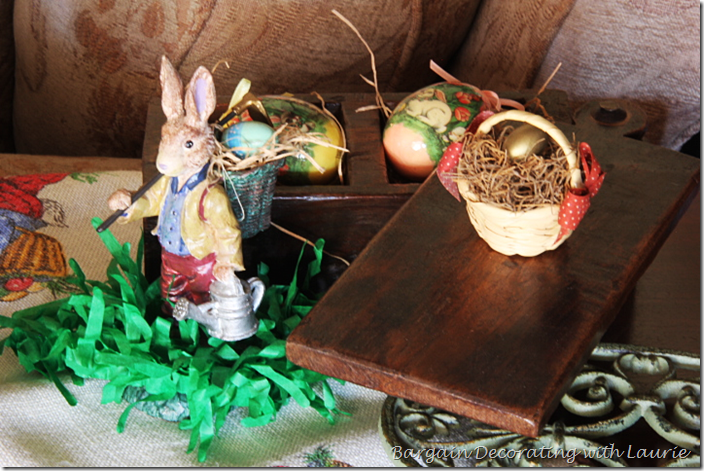 Easter Decor in the Family Room