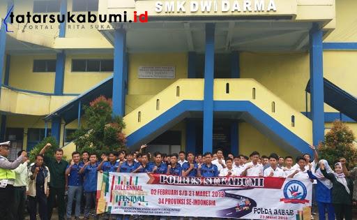 SMK Dwi Darma Parungkuda Dukung Milenial Road Safety Festival