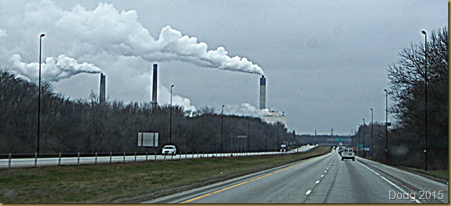 Going by the smoke stacks in Springfield, Illinois