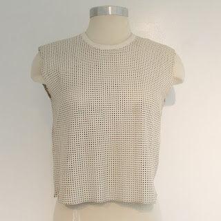 Helmut Lang Perforated Lamb Leather Vest