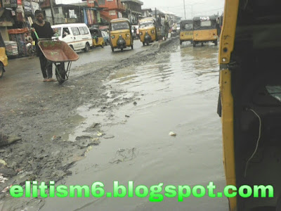 Pitiable state of Douglas road by St Paul in Owerri (photos)...