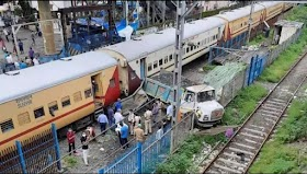 Mumbai Train Incident : Express Train Brush Against a Truck in Kandivali Station on Monday 20th July