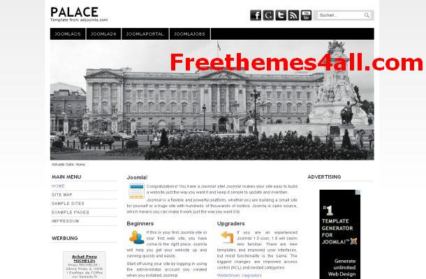 Free Joomla Black White Business Template
