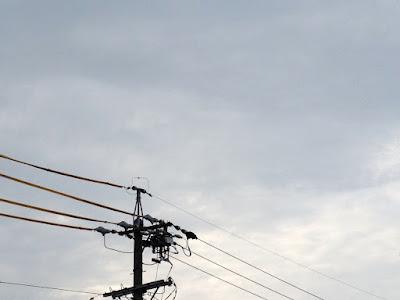 金環日食の朝、曇