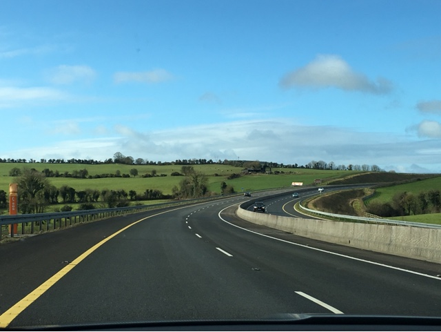 View from the car on our way to Adare