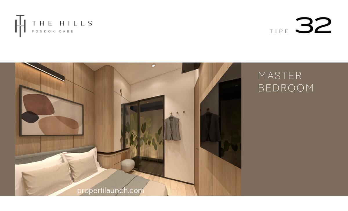 Interior Desain Master Bedroom The Hills Pondok Cabe Tipe 32