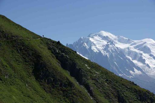 Le mont Blanc vu du sentier du refuge Albert Ier
