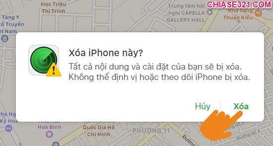 Cách xóa dữ liệu iphone khi bị mất cắp