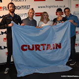 OIC - ENTSIMAGES.COM - Adam Skerritt, Jaron Henrie-McCrea, Carys Edwards, Danni Smith and Martin Monahan at the Film4 Frightfest on Monday   of  Curtain UK Film Premiere at the Vue West End in London on the 31st  August 2015. Photo Mobis Photos/OIC 0203 174 1069