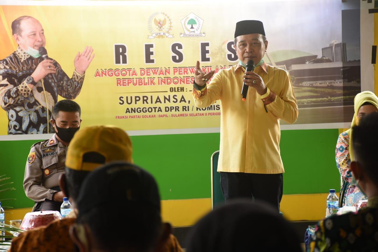 Penuhi Janji, Reses Anggota DPR RI Supriansa Sambangi Konstituen