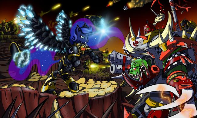 Equestria Daily - MLP Stuff!: Drawfriend Stuff #1413 - WAAAAGHWarhammer 40k Chaos Gods Fanfiction