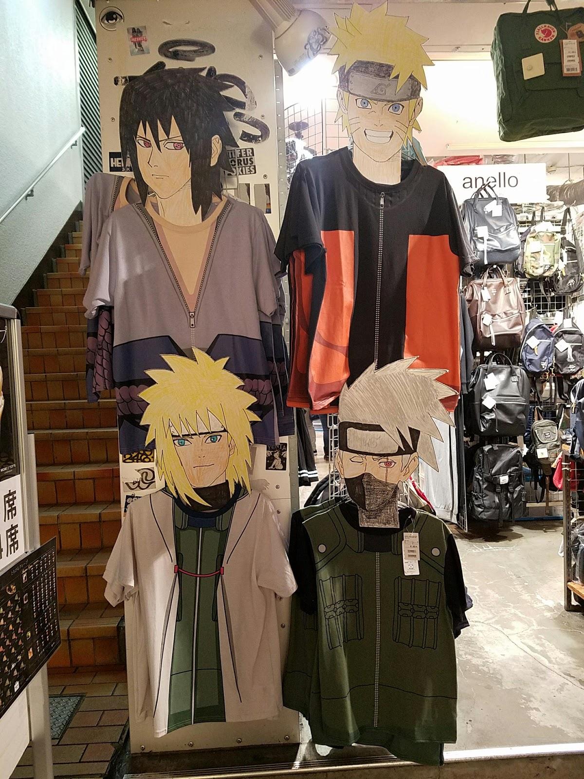 Japan tokyo shopping sasuke minato kakashi