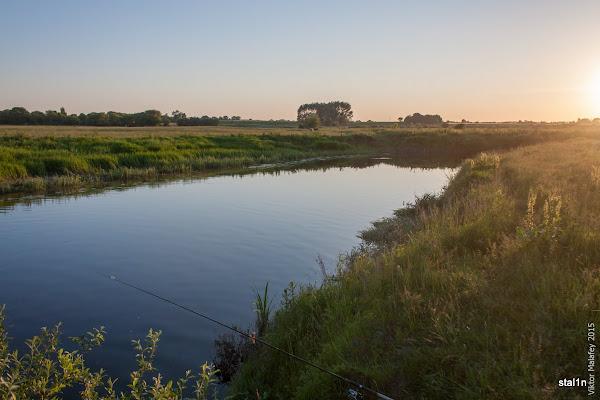 моє місце рибалки на річці Стир