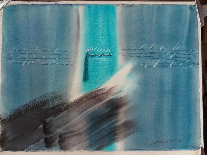 Teresa Jorda Vito,Pintora,Pintora Teresa Jorda Vito,Pintura,del pintor al comprador, Teresa Jorda Vito pintura a la acuarela,Pentagrama