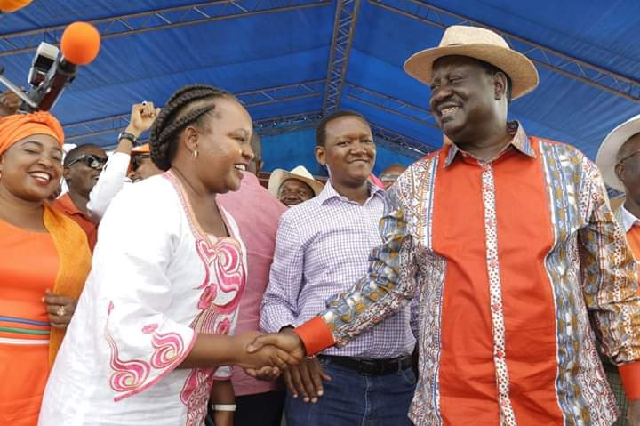 Raila Odinga and Ann Waiguru