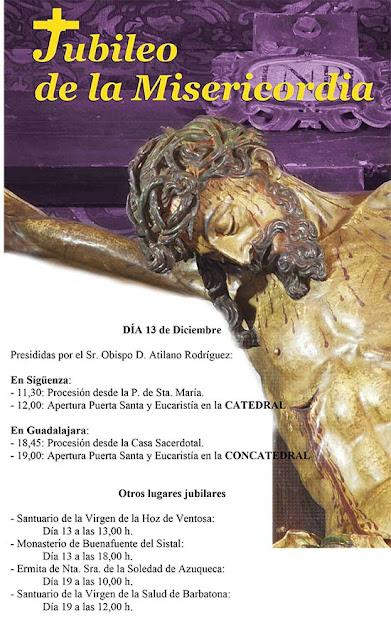 Cartel anunciador del Año Jubilar de la Misericordia en la diócesis de Sigüenza-Guadalajara