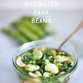 Marinated Fava Beans.