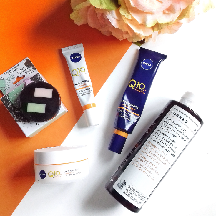 Skin & Hair Products from Nivea Q10 Vitamin C Range, Korres & Caolion