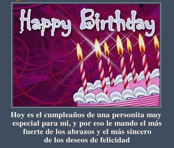 Breves mensajes de cumpleaños con saludos de felicitaciones