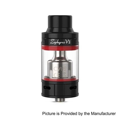 authentic-youde-ud-zephyrus-v3-sub-ohm-tank-atomizer-black-stainless-steel-5ml-25mm-diameter
