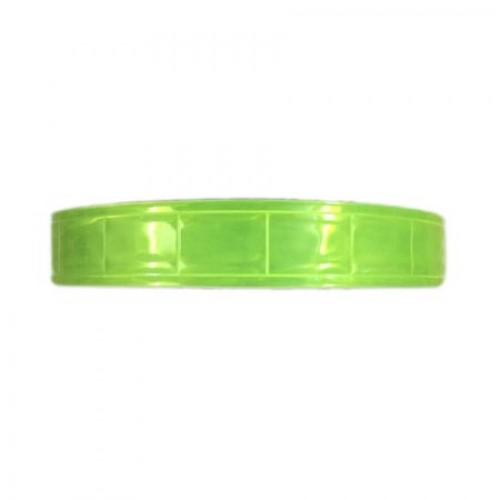 Dây phản quang nhựa 2.5cm vàng chanh - BHK0015